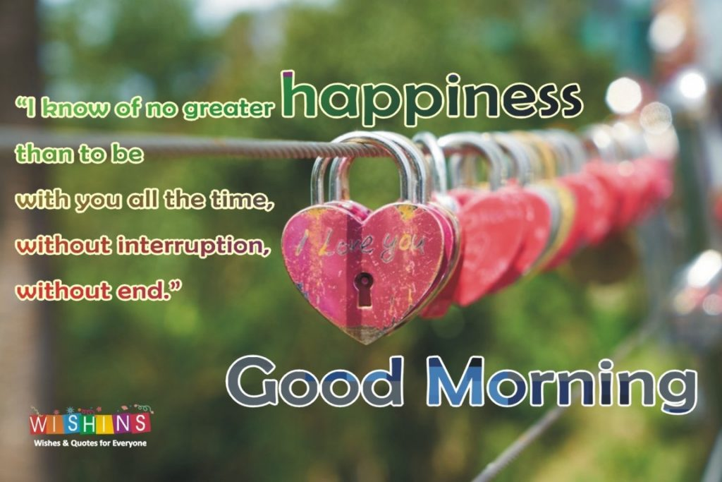 good morning quotes my love