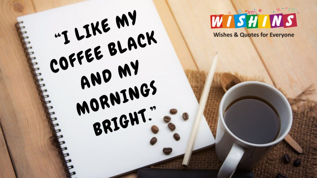 black coffee & notebook