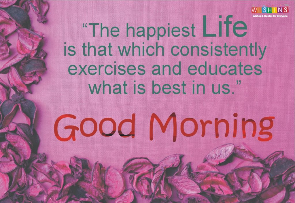 life quotes morning